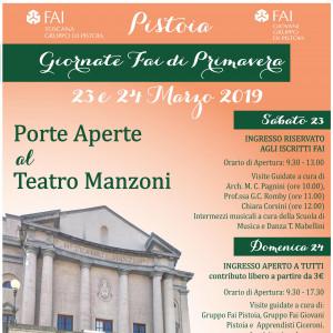 PORTE APERTE AL TEATRO MANZONI | 23 e 24 marzo _ Giornate FAI primavera 2019
