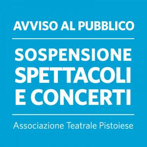 AGGIORNAMENTO SOSPENSIONE | ATTIVITA' DI SPETTACOLO 5.3.2020/14.6.2020