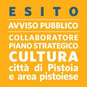 ESITO AVVISO PUBBLICO Collaboratore di supporto all'elaborazione e redazione Piano Strategico della Cultura della città di pistoia e dell'area pistoiese