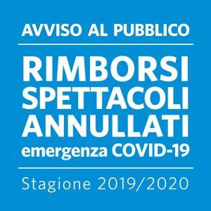 RIMBORSI SPETTACOLI ANNULLATI COVID-19 || STAGIONI  ATP  2019-2020