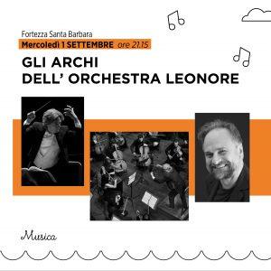 GLI ARCHI DELL'ORCHESTRA LEONORE   Daniele Giorgi – Massimo Popolizio